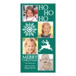 Tarjeta de moda de la foto del navidad tarjetas personales con fotos