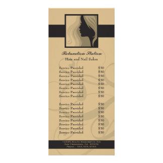 Tarjeta de moda del estante del precio del balnear tarjeta publicitaria a todo color