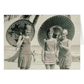 Tarjeta de moda del traje de baño 1915