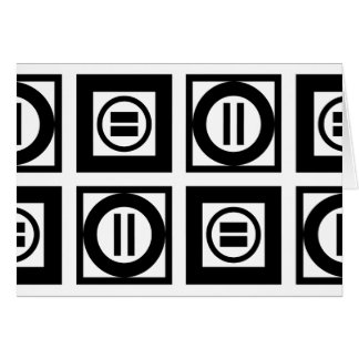 Tarjeta de modelo geométrica blanco y negro del tarjeta de felicitación