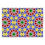 Tarjeta de modelos geométrica islámica