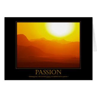 Tarjeta de motivación de la pasión