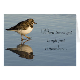 Tarjeta de motivación del pájaro de la lavandera