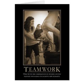 Tarjeta de motivación del trabajo en equipo
