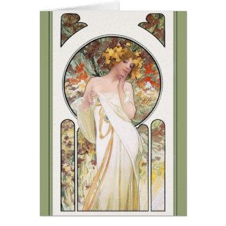 TARJETA de Mucha:  Anuncio del perfume de Sylvais