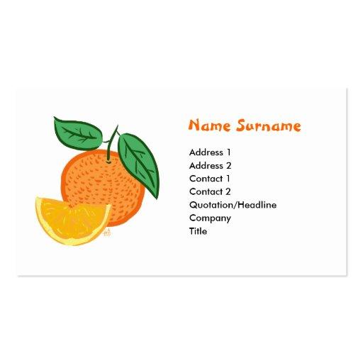 Tarjeta de Naranja y Limon Plantilla De Tarjeta De Visita
