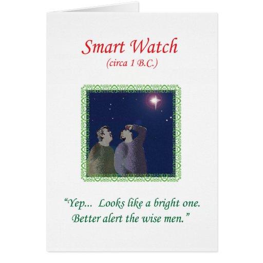 """Tarjeta de Navidad 2013 por Qshirts -- """"Reloj eleg"""