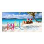 Tarjeta de Navidad 311 alegre colorida Plantilla Para Tarjeta De Foto