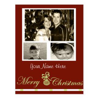 tarjeta de Navidad 3 adaptable de la foto… Tarjetas Postales