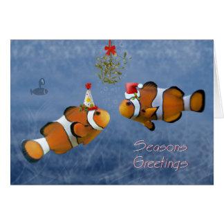 Tarjeta de Navidad a pescado