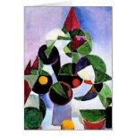 Tarjeta de Navidad abstracta del árbol por complet