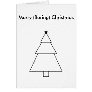 Tarjeta de Navidad aburrida divertida