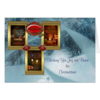 Tarjeta de Navidad acogedora