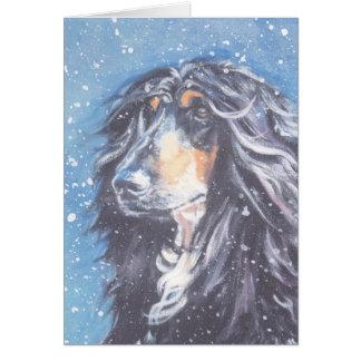 Tarjeta de Navidad afgana del perro