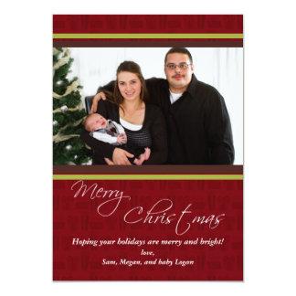 """Tarjeta de Navidad alegre de la foto de los Invitación 5"""" X 7"""""""