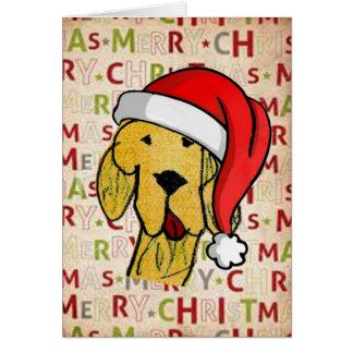Tarjeta de Navidad alegre del perro