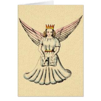 Tarjeta de Navidad alemana de Christkind del ángel