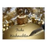 Tarjeta de Navidad alemana de Frohe Weihnachten Tarjeta Postal