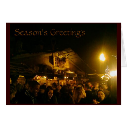 Tarjeta de Navidad alemana del mercado del navidad