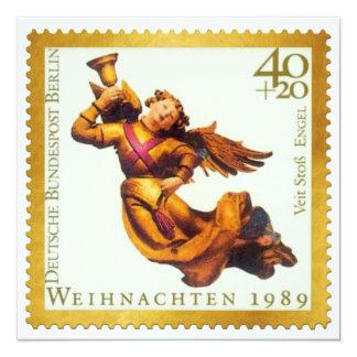 Tarjeta de Navidad alemana del sello del oro: Anuncio