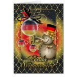 Tarjeta de Navidad alemana - Frohe Weihnachten