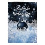 Tarjeta de Navidad alemana - und de Gesegnete Weih