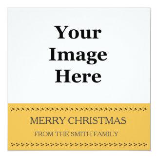 """tarjeta de Navidad amarilla del cuadrado de la Invitación 5.25"""" X 5.25"""""""