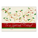 Tarjeta de Navidad - amigo especial