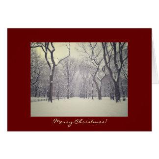 Tarjeta de Navidad - árboles del invierno del Cent
