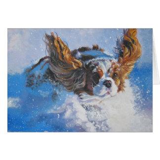 Tarjeta de Navidad arrogante del perro de aguas de