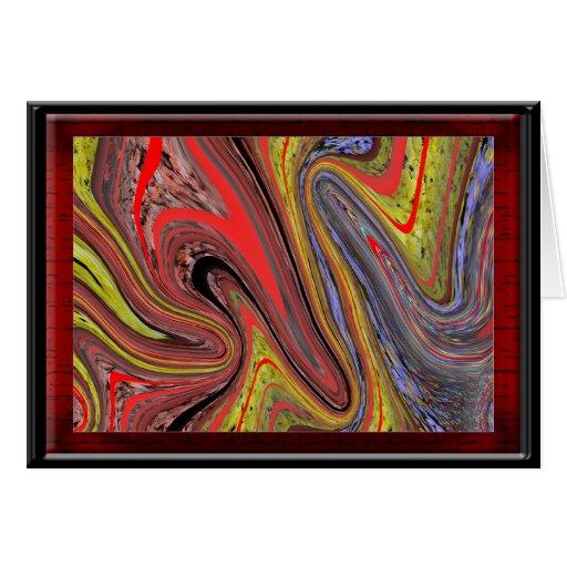 Tarjeta de Navidad artística abstracta
