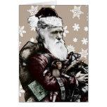 Tarjeta de Navidad atea de Darwin (color)