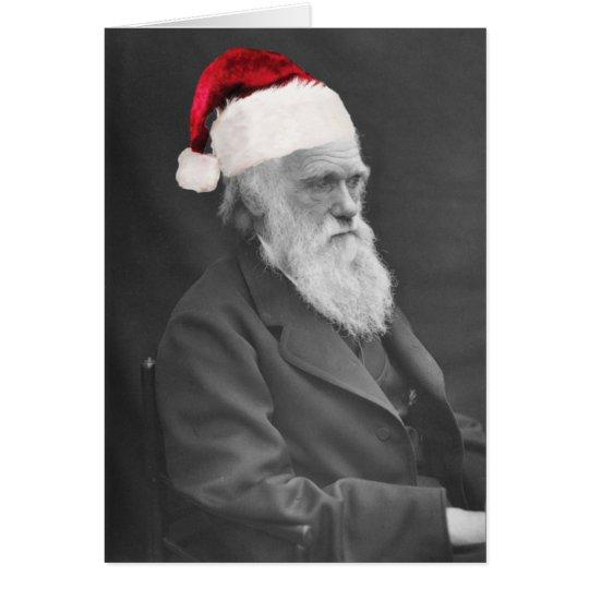 Tarjeta de Navidad atea - los saludos de la estaci