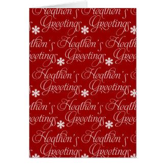 ¡Tarjeta de Navidad atea - saludos paganos! Tarjeta De Felicitación