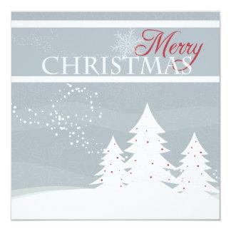 """Tarjeta de Navidad azul clara del árbol del Invitación 5.25"""" X 5.25"""""""