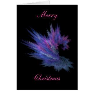 Tarjeta de Navidad azul de la piel