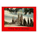 Tarjeta de Navidad - Barcelona, Sagrada Familia