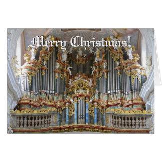 Tarjeta de Navidad barroca del órgano