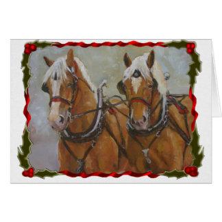 Tarjeta de Navidad belga del caballo de proyecto