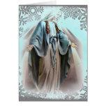 Tarjeta de Navidad bendecida del Virgen María