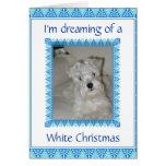 Tarjeta de Navidad blanca del Schnauzer