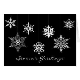Tarjeta de Navidad blanco y negro elegante