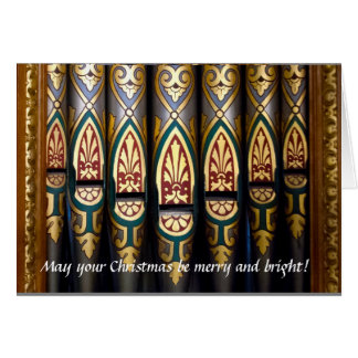 Tarjeta de Navidad bonita de los tubos de órgano