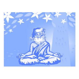 Tarjeta de Navidad budista de Santa Postal