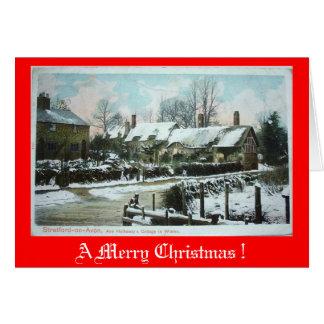 Tarjeta de Navidad - cabaña de Anne Hathaway