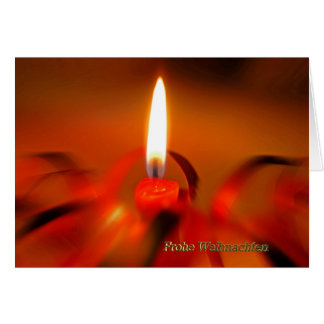 Tarjeta de navidad candela Roja
