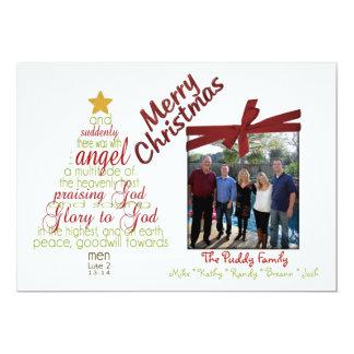 Tarjeta de Navidad caprichosa religiosa de la foto Comunicado Personal