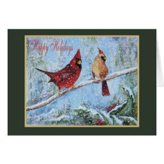 Tarjeta de Navidad cardinal