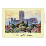 Tarjeta de Navidad - catedral de Lincoln