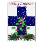 Tarjeta de Navidad céltica
